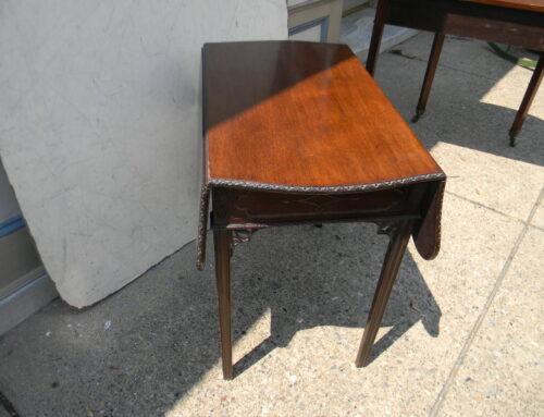 Mahogany Carved Circa 1790 Pembroke Table