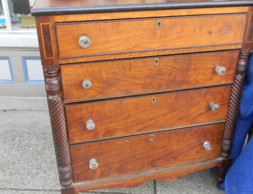 """Apple & Maple Carved Chest PA. 1840-48""""t-42""""w"""