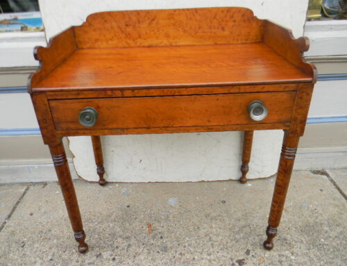"Figurede Maple Table, PA. Circa 1820,33""w-20""d"