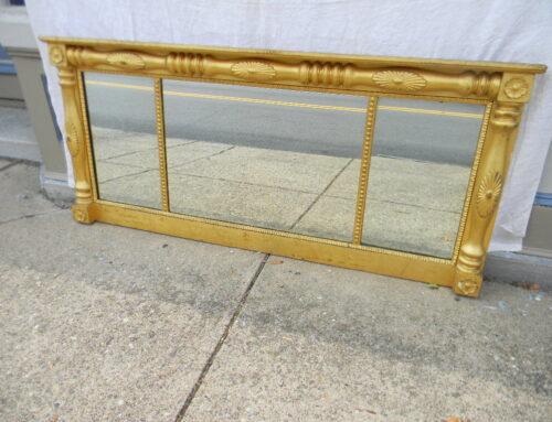 "Gilt Mantle Mirror American 1825 -62""w-28""t"
