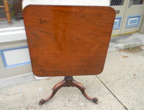 """Irish Mahogany Table,30""""x29""""Ca. 1780"""
