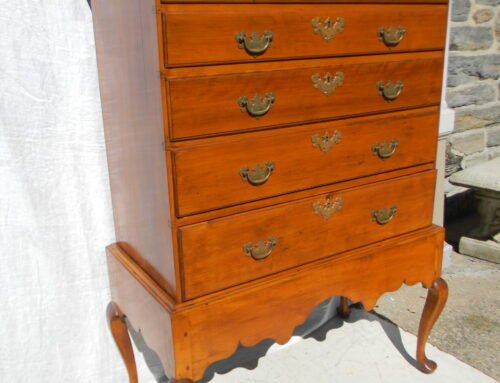 """Maple Chest on Frame  New England Ca 1750 54""""t-34""""w"""